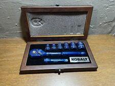 Kobalt Se7en 2016 Blue Socket Tool Set in Original Wooden Box From Nascar
