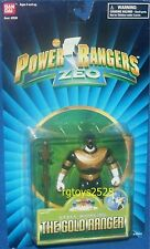 """Power Rangers ZEO 5"""" Gold Ranger New Staff Whirling Factory Sealed 1995"""