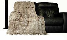 Super Soft Large Throws Cuddly 2 TONE Faux Fur Fluffy Throw over 150cm x 200cm