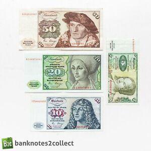 GERMANY: Set of 4 German Mark Banknotes.