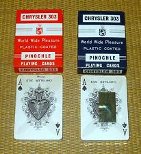 Chrysler 303 PINOCHLE | *NOS* x2 RED BLUE Playing Cards SEALED Deck No Bar Code