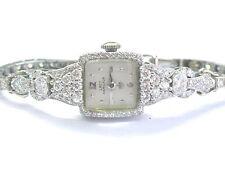 "Platinum/14Kt Vintage Hamilton Diamond Watch 2.50Ct 6"""