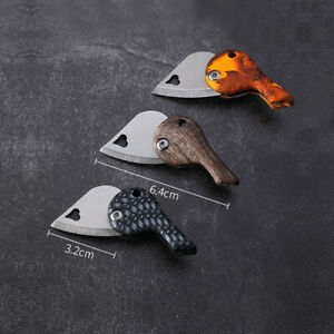 Outdoor Fishing Camping Folding Blade Keychain Small Knife Heart Shape  LO