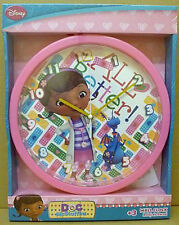 OFFICIAL DISNEY DOC MCSTUFFIN DISNEY PINK BATTERY WALL CLOCK, GIFT,