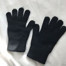 Zakti Black Merino Wool Blend Classic Gloves Adult Women's One Size