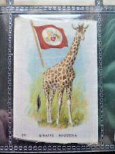 "I.T.C. WW1 ERA SILK ""ANIMAL WITH FLAG"" GIRAFFE - RHODESIA NO.29"