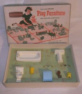 Vintage Strombecker Doll house Furniture Deluxe True Scale Bathroom  No. 94-325
