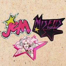 Lot of 3 Jem & the Holograms Patches Misfitz Logo Singing Jerrica Benton Synergy