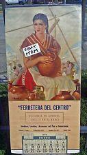 1958 CALENDAR Ferretera Del Centro SALTILLO COAHUILA MEXICO Pottery AMENDOLLA