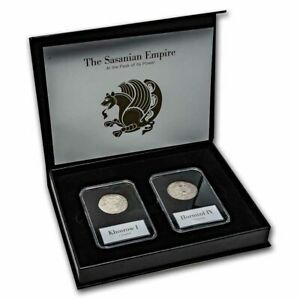 Coinage of the Sasanian Empire: Silver 2 Coin Presentation Set - SKU#233227