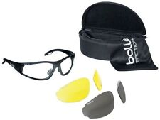 Bolle Rogue Tactical Safety Glasses Kit Blk Frm Clear, Gray, Amber Lenses