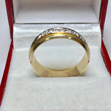 Natural 0.25 CT Diamond Engagement Rings Solid 14K Gold Mens Ring Size R V W U