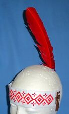 NEW Native American Indian costume headband;Child/Adult;felt;red feather;One Sz