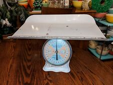 Vintage 1960'S American Family Baby Nursery Scale Pink & Blue Dial White Metal