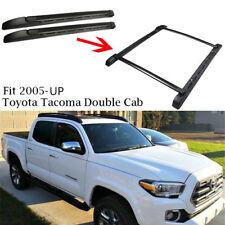 For 05-18 Toyota Tacoma Double Cab Side Rail Bars Roof Rack Crossbars Black OE