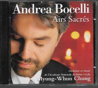 CD ALBUM 16 TITRES--ANDREA BOCELLI & MYUNG WHUN CHUNG--AIRS SACRES--1999