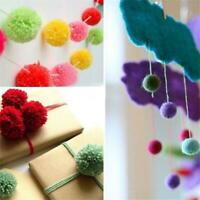 100 Glitter Tinsel Pompom Balls Small Pom Pom Ball Puppy Cat I2D3 Toys 15mm E8M0