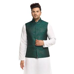Ethnic Brocade Nehru Jacket For Men