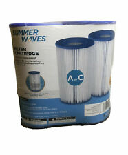 Brand New Summer Waves® A/C Swimming Pool Filter Cartridge 2 Pack *SHIPS TODAY