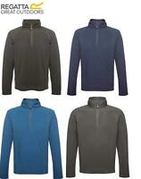 Regatta Mens Parkline Half Zip Fleece Top Jumper Pullover Quick Drying Wicking