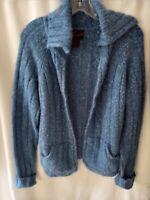 TORRID Blue Open Front Cardigan Sweater long Sleeve Sz 2 Large two pocket blend