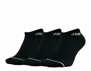 Jordan Dri-Fit Everyday Max No Show Black Men's L 3 Pack Socks SX5546 010 NWT