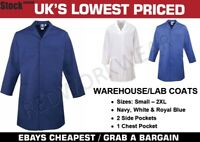 Lab Warehouse Work Coverall Coat Navy White Royal Blue
