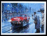 """1951 Mille Miglia Gigi VILLORESI FERRARI 340 NicholasWATTS Art Print 10.5x14.5"""""""
