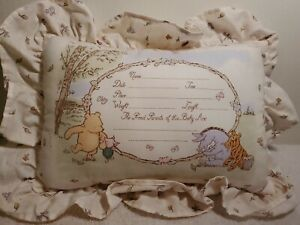 Classic Pooh Baby 2 Baskets And Pillow. Pillow can be personalized.