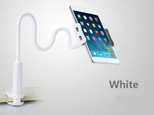 White Lazy Bed Desktop Stand Mount Car Holder 360° Stand Clip for Cell Phone
