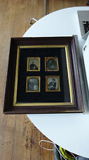 1/6 Plate 2-3/4 x 3-1/4 Daguerreotype/Ambrotype Set of 4 Framed Children & Dogs
