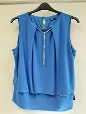 Roman royal blue with attached necklace top size 18 NEW