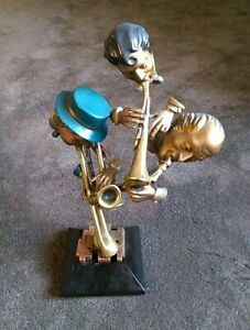 Paul Wegner 'ROUND MIDNIGHT Original Signed Jazz Bronze Sculpture 225 of 500