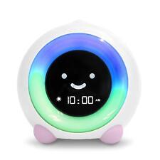 LittleHippo Mella Children's Sleep Trainer Alarm Clock Night White Pink