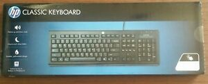 HP Keyboard WZ972AA Classic Wired BRAND NEW SEALED BOX Hewlett Packard