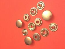 "50 Set 15 mm ( 5/8"" ) Poppers Snap Fastener Ring Socket Solid Brass"