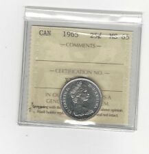 **1965** ICCS Graded Canadian, 25 Cent, **MS-65**