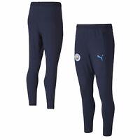 Puma Mens Manchester City Football Soccer Training Pants - Navy