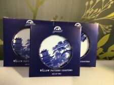 6 Willow Pattern Ringtons Coasters