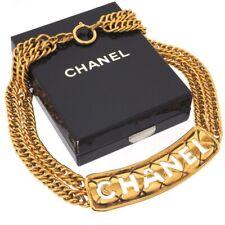 Vintage Chanel Excellent Cut Out Double Chain Choker Necklace.NFV5848
