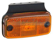 12V 24V VOLT AMBER LED REFLECTIVE SIDE MARKER POSITION LAMP LIGHT WITH BRACKET