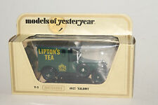 MATCHBOX MODELS OF YESTERYEAR Y-5 1927 TALBOT, LIPTON'S TEA DELIVERY, BOXED