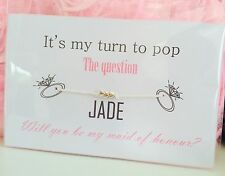 Will You Be My Bridesmaid/ Maid Of Honour/Flower Girl Bracelet - Wedding