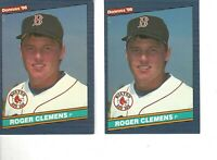 1986 Donruss  #172  ROGER CLEMENS Red Sox Baseball Card, Lot of 2