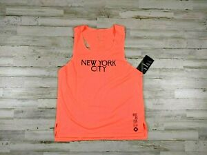 Nike Aeroswift NYC Singlet New York City Bright Mango DC4871 854 Small Med Large