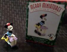 Hallmark 1998 Merry Miniatures Disney Minnie'S Luggage Car Ornament
