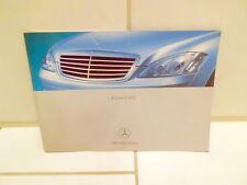 Mercedes Benz S - Klasse  Bedienungsanleitung in Englisch