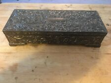 JJ B240 Godinger Antique Silver-Plated Jewelry Box with Floral Design