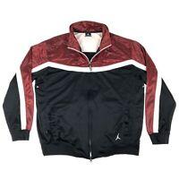 Nike Jordan Negro Con Rojo a Rayas Dri Fit cremallera