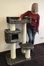 Kratzbaum für große Katzen Devon Rex XXL Taupe Grau 15cmØ Stämme. RHRQuality!